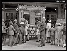 "Chicago moviegoers waiting to see ""The Philadelphia Story"" April 1941.  Photograph by Russell Lee."