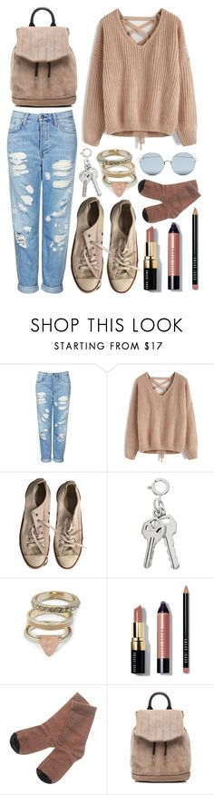 """""""let's rebel"""" by pandora-s-box-s-contents ❤ liked on Polyvore featuring Topshop, Chicwish, Converse, GUESS, Bobbi Brown Cosmetics, Golden Goose, rag & bone and For Art's Sake"""