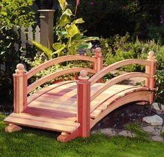 127 stunning garden bridge ideas on a budget Pond Bridge, Garden Bridge, Garden In The Woods, Lawn And Garden, Backyard Projects, Outdoor Projects, Japanese Garden Design, Japanese Gardens, Garden Features