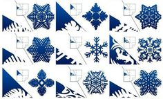 How to DIY Pretty Kirigami Snowflakes (Free Template) / www.FabArtDIY.com on imgfave