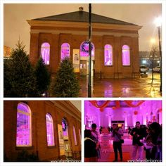 Eastern Market in Washington DC after iWantAmbiance finished with it. Corporate event last Friday with Hutchinson Design Group.  #iWantAmbiance #uplighting #monogram