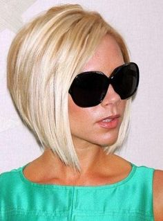 Victoria Beckham Hairstyle Stylish Full Lace Wig 100%Human Hair Blonde 10 Inches, $220.29 | Wigsshopping.com