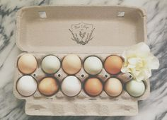 Egg Carton Wreath Stamp by Substation Paperie - for backyard chickens - fresh eggs - egg carton labels