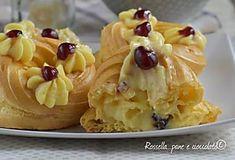 Infallible recipe of Zeppole di S Giuseppe Cheesecake Desserts, Mini Desserts, Chocolate Desserts, Delicious Desserts, Dessert Recipes, Italian Cookies, Italian Desserts, Peach Upside Down Cake, Goody Recipe