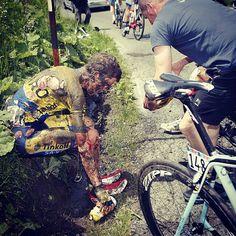 Giro carnage.