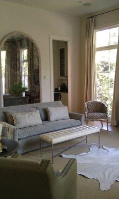 #living room @Benjamin Moore's Ballet White