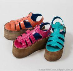 Sandalias primavera verano 2015 Hoku Shoes. Cute Shoes, Me Too Shoes, Wedge Shoes, Shoes Sneakers, Huaraches, Shoe Collection, Chunky Heels, Designer Shoes, Fashion Shoes