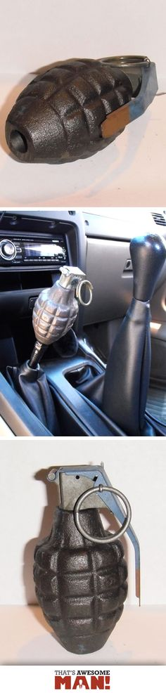You want your car to be the bomb!? Get yourself a Dummy Hand Grenade Gear Shift Knob! http://thatsawesomeman.com/grenade-gear-knob/