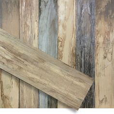 Porcelain tiles with the look of reclaimed barn wood
