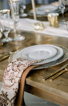 Fall Inspiration with Chestnut Martinique pattern napkins layered over Copper Lamour from Creative Coverings