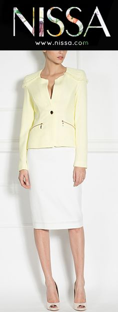www.nissa.com  #nissa #fashion #blazer #fashionista #look #style #yellow Ss, Blazer, Yellow, Collection, Style, Fashion, Swag, Moda, Fashion Styles