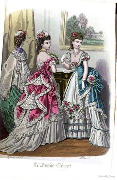 Le Monde Elégant 1873 April