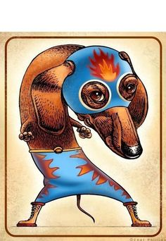 the fighter- the Doxie personified.