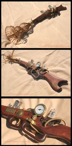 Steampunk Ray Gun 1 by ~CorpseDragon on deviantART