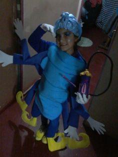 Disfraz de Absolem, la oruga azul del Pais de las Maravillas