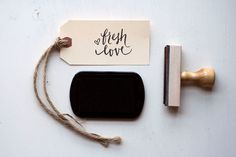 Fresh Love of Original Calligraphy Stamp. $48.00, via Etsy.