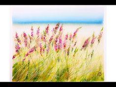 Watercolor Field of Flowers Painting Tutorial - YouTube
