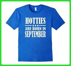 Mens Hotties are Born In September Birthday Tshirt Large Royal Blue - Birthday shirts (*Amazon Partner-Link)