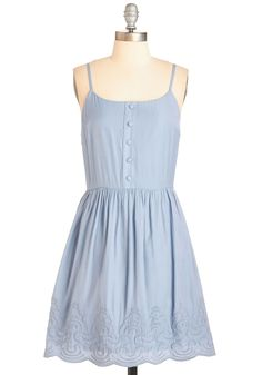 The Cloud Goes Wild Dress. Enter the room to uproarious applause - or something close to it - when you sport this pale blue frock! #blue #modcloth