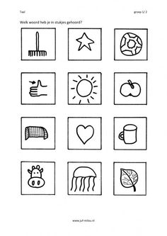 Welk woord in stukjes? Kids Learning, Spelling, Teaching, Logos, Pdf, School Stuff, Worksheets, Stage, Barn