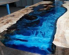 Epoxy Wood Table, Epoxy Resin Table, Diy Epoxy, Wooden Tables, Glass Tables, Art Resin, Resin Crafts, Poplar Tree, Wood Table Design