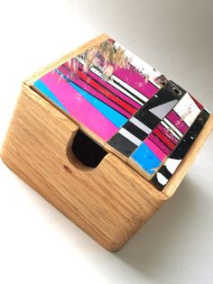 Wood Box made from Recycled Skateboards Skateboard Art one