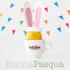 Caffè MAURO Pasqua! Happy Easter! Bunny idea #coffee #bunny #easter #easteridea #eggs #easteregg #colouregg #pasqua #mauro