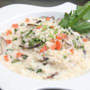 Romige risotto met kip en spinazie
