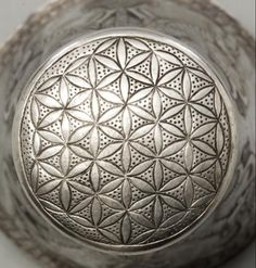 [XI Flower of Life?] Ancient Near East silver beaker bottom motif, 600 - 500 BC Ancient Near East, Ancient Art, Ancient Persia, Arabesque, Achaemenid, Minoan, Ancient Mysteries, Greek Art, White Texture