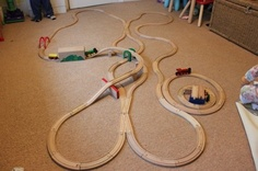 Wooden Track Mind: a blog dedicated to wooden train track set ups.