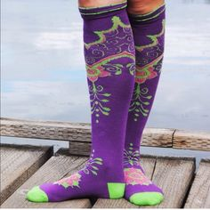 NWT Henna Knee High Socks Made in the USA and designed in Seattle, these knee high socks are 80% cotton, 15% nylon and 5% spandex. I love supporting independent women designers and these socks are excellent quality! Peony and Moss Accessories Hosiery & Socks