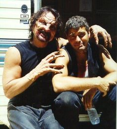 Horror Movies ....   From Dusk Till Dawn - George Clooney and Tom Savini