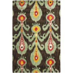 A transitional design and dense, thick pile highlight this handmade rug inspired by Ikat patterns with today's updated colors.