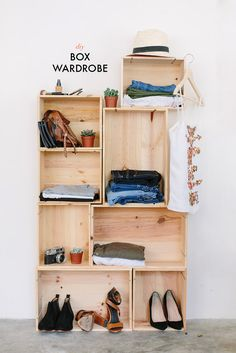 DIY: box wardrobe