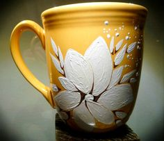 Flower - Hand Painted Mug That my home be home of creativity to inspire others and help me to live in sanity.