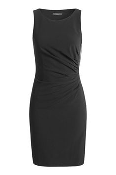 Crêpe-jurk met accentuerende rits