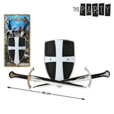 If you are thinking of organising a great party, you can now buy Sword and Shield sets Pcs) and other BigBuy Carnival products to create an original and fun environment! Spanish Flags, Reindeer Headband, Toy Swords, Paint Prices, Flag Face, Clothing Websites, Cool Things To Buy, Stuff To Buy, Cowboy Hats
