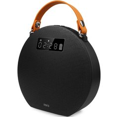 MIFA M9 Portable Bluetooth Speaker 4.0 with Power Bank And LED Display (Black). 1.Bluetooth party speaker with hands-free function ,with AUX-in and support micro SD card. 2.10W power output,Built-in two 3 inch passive radiators,makes the speaker super bass and excellent stereo sound. 3.Built-in 5200mAh rechargeable battery,last playing 10 hours ,and with power bank function to charge your other electronic devices. 4.With LED display showing operating state,with clock and alarm function....