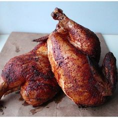 Smoked chicken tastes juicy and flavorful when fired on a wood pellet grill. Marinade chicken or mop grilled chicken with our Mandarain BBQ Sauce for a South Seas delight. You can make Asian chicken at home. Traeger Turkey, Turkey Brine, Traeger Chicken, Traeger Recipes, Grilling Recipes, Cooking Recipes, Smoker Recipes, Smoked Chicken, Roasted Chicken