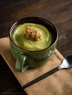 Vegan Cream of Broccoli Soup--2 versions of this low-fat soup