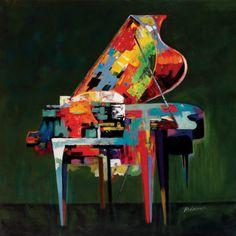 """Piano Coloratura  Art Print  by P. Robert  item #: 9624619544A     36"""" x 36"""" $64.99"""
