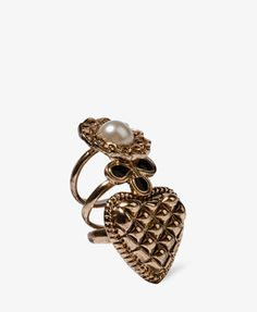 #Forever21                #ring                     #Quilted #Heart #Ring     Quilted Heart Ring Set                              http://www.seapai.com/product.aspx?PID=16720