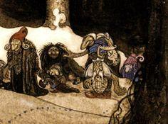 John Bauer - Icelandic Illustrator - assorted trolls