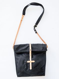 Waxed Canvas Musette Bag by Sketchbook Crafts $140