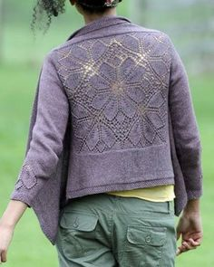 Right okay, I WILL finish this cardigan this time! Sweater Workshop: The Dahlia Cardigan - Knitting Daily - Knitting Daily Knitting Daily, Lace Knitting, Knitting Stitches, Knitting Help, Mode Crochet, Knit Or Crochet, Knit Lace, Crochet Capas, Fashion Mode