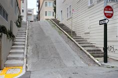 This is a fascinating Priceonomics piece about the Steepest Streets in San Francisco, along with lots of infographics. Take a look. We wonder how the cars and trolleys stay glued to the roads! #3 Romolo Street