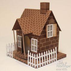 Beautiful Paper House - #helloCARDS #PaperCrafts Paper Crafts, Diy Crafts, Paper Houses, Card Maker, Pattern Paper, Diy Art, Scrapbook Paper, Design Inspiration, Crafty