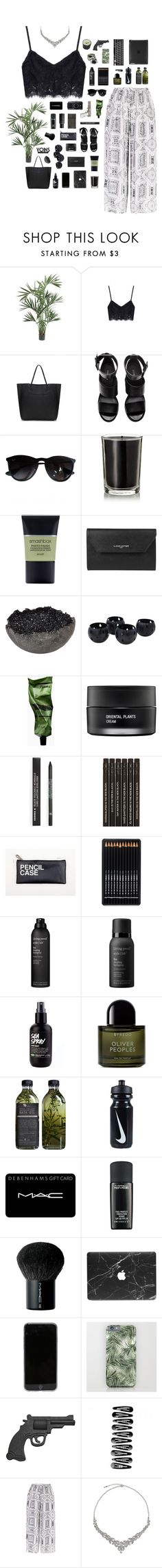 """Yoins // Second Life"" by blood-drops ❤ liked on Polyvore featuring Nearly Natural, H&M, Ray-Ban, Coqui Coqui, Smashbox, Lancaster, Leica, Jess Panza, NOVICA and Aesop"