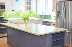 Recycled Glass Countertop Kitchen