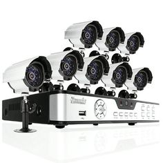 Zmodo 8CH H.264 Video DVR Security Surveillance Camera System With 8 Night Vision Outdoor IR Security Cameras No Hard Drive by ZMODO. $199.99. Overview This 8 camera monitoring System delivers everything you need to defend your home or business, safeguard your loved ones and deter intruders. It allows you to have peace of mind at your home or business whenever and wherever you are. It provides the basic surveillance function at an affordable price for your security surveill...